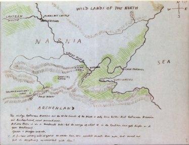 c.s lewis-drawn map